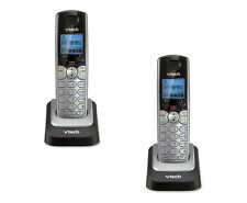 Qty 2 Vtech DS6101 DECT 6.0 Two Line Cordless Accessory Handsets for DS6151