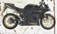 Yamaha YZF R1 SP 2006 Aged Vintage Photo Print A4 Retro poster