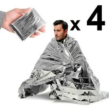 4 x Space Blankets Thermal Thermo Emergency Survival Camping Rescue First Aid OZ