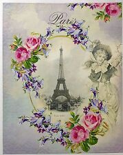 Vintage Paris Design A3 Decoupage Craft Paper - 2 Designs On 1 Paper