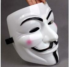 White V for Vendetta Anonymous Film Guy Fawkes Face Mask USA SELLER AZ002WH
