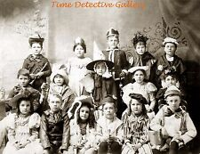 Kids in Halloween Costumes - 1890 - Historic Photo Print