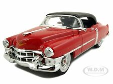 1953 CADILLAC ELDORADO SOFT TOP RED 1/24 DIECAST MODEL CAR BY WELLY 22414