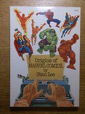FIRESIDE: STAN LEE'S ORIGINS OF MARVEL COMICS, 1974, SC, UNREAD DEADSTOCK!!!