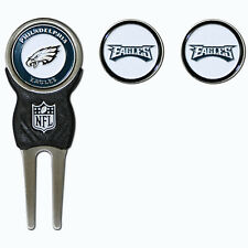 Philadelphia Eagles NFL Team Golf Divot Tool with 3 Magnetic Ball Markers