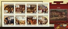 Paintings of Adolphe Monticelli painting m/s Guinea 2009 Mi 6927-34 MNH #GU0998a
