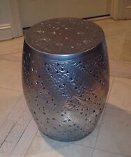 Gorgeous Aluminum Drum Table Accent Table Rare Find Morrocan