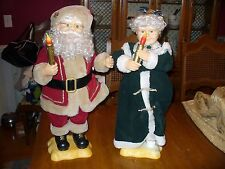 Animated Santa Claus and Mrs. Claus figures Vintage Wal-Mart 1997