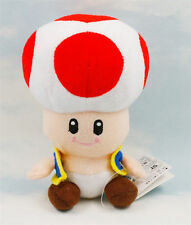 """7"""" Super Mario Bros Red Toad Plush Toys Game Stuffed Animal Toy Doll Kids 2017"""