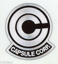 Iron on patch Anime Dragon Ball Z Capsule Corp White version