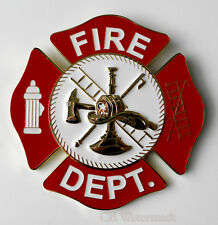 US FIRE FIGHTER DEPT CUT OUT MEDALLION CAR GRILLE GRILL EMBLEM 3.1 INCHES