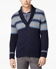 $169 NWT TOMMY HILFIGER MEN SHAWL COLLAR SWEATER CARDIGAN JACKET M MEDIUM  NAVY