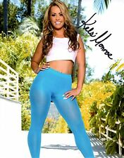 Kelsi Monroe Sexy In Blue Yoga Pants Signed 8x10 Photo Adult Model COA Proof