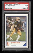 1983 JOGO CFL WARREN MOON RC PSA 9 MINT HOF PRE 1985 TOPPS *POP 1/11 NONE HIGHER