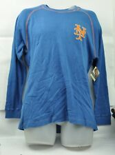 MLB New York Mets Red Jacket Medium Mens Thermal Blue Long Sleeve Sweatshirt