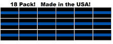 (18 Pack!) Thin Blue Line Window Decal Stickers Police Law Enforcement Car Truck