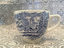 Country Side Enoch Wedgwood Tea Cups Blue White England Tunstall #21