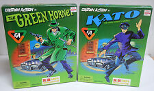 """Captain Action as Green Hornet & Kato KB Toys Exclusive 12"""" Figures 1998 New"""