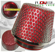 "4.25"" JDM HIGH FLOW TURBO/SUPERCHARGER COLD AIR / SHORT RAM FILTER RED FOAM"