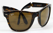 Ray Ban RB 4105 710 Folding Wayfarer Havana Brown Sunglasses 54mm New Authentic
