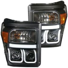 Anzo U-BAR Projector Headlights Black 2011-2015 Ford Superduty F250 F350 F450