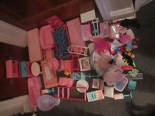 Huge lot of Barbie Furniture Tables chairs Kitchen furniture