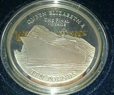 The Final Voyage of The QE 2 2008 Gibraltar 5oz Silver