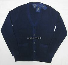 $425 NEW POLO RALPH LAUREN 100% cashmere CARDIGAN SWEATER M Slim fit
