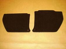 Holden HQ kick panels L & R. Black plush carpet. NEW. Incl trim clips.