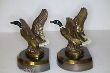 Vintage PHILADELPHIA MFG CO PMC Brass Book Ends - Ducks