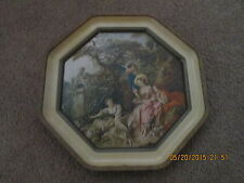 12 1/4' Hexagon Metal,serving tray Print of Painting by Francoise Boucher 1700's