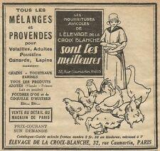 W5261 Elevage de la Croix Blanche - Pubblicità 1929 - Publicitè