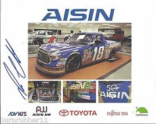 "SIGNED 2015 ROSS CHASTAIN ""AISIN AW HATTORI"" #18 NASCAR TRUCK SERIES POSTCARD"