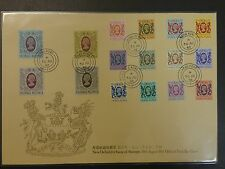 HONG KONG 1982 New Definitive QEII 4th Issue FULLSET Official FDC VF
