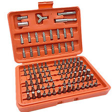 Chrome Vanadium 100pcs Security Screwdriver Tamperproof Torx Hex Bit Set W/ Case