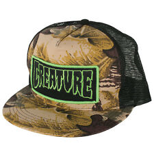Creature Patch Trucker Hat Mesh Back Snapback Hunting Camo Skateboard NEW