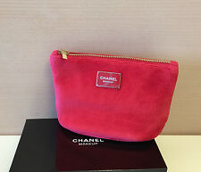 CHANEL BEAUTE Red  Makeup Cosmetic Bag Pouch * New, no box