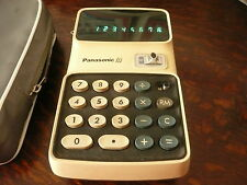 PANASONIC 855 CALCULATOR EARLY 1970'S USED IN WORKING ORDER WITH CASE AND MANUAL