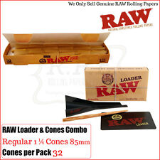 Raw Combo with 32 Raw Classic Regular 1 1/4 Natural Cones & One Raw Cone Loader