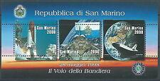 1998 SAN MARINO FOGLIETTO BANDIERA NELLO SPAZIO MNH ** - ED