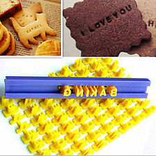 Mini Letters Numbers Embosser Biscuit Message Stamp Fondant Cookie Cutters Mould