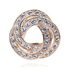 GORGEOUS 18K ROSEGOLD PLATED AND GENUINE SWAROVSKI CRYSTAL SCARF CLIP OR BROOCH