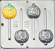 Pumpkin Jack O Lantern Lollipop Chocolate Candy Mold Halloween  954 NEW