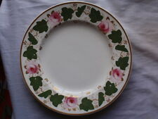 "ANTIQUE BLOOR DERBY PORCELAIN RED MARK 1820-1840 ROSE PAINTED PLATE  7 7/8"" W"