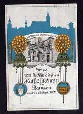 102705 AK Bautzen 1921 Künstlerkarte 3. Sächs. Katholikentag In Domine increment