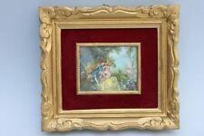 Liebespaar im Stil des 18.Jahrh. , Miniatur, dekorativ gerahmt, 20.Jahrhundert