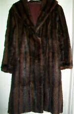 VINTAGE VICTOR SEGALL LTD EXPERT LONDON FURRIERS DYED MUSQUASH LINED FUR COAT