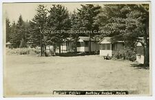 Antique Real Photo Postcard RPPC Barlows Cabins Boothbay Harbor Maine MA