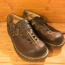 Dr. Martens Womens Mary Jane T-Strap Double Buckle Shoe Size 9 ENGLAND