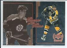 Bobby Orr Ray Bourque 99/00 UD Century Legends #E2  Essence of the Game - Insert